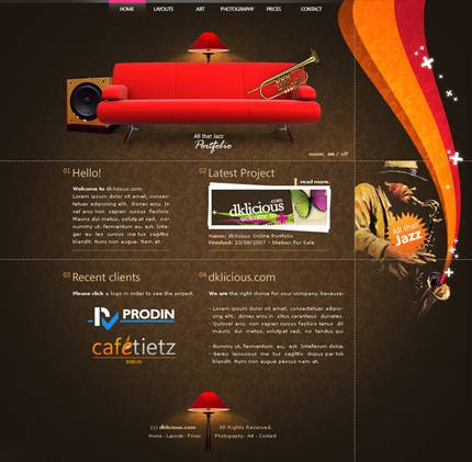 Get web design ideas & inspiration from other designs – Brown