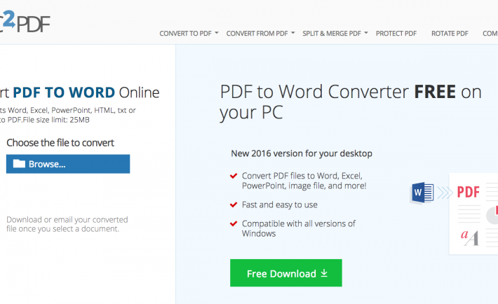 PDF files can be converted into Word files to better suit text manipulation